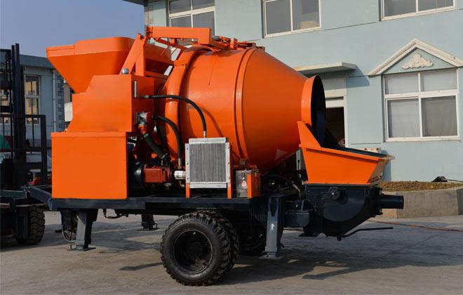 electric concrete mixer pump01