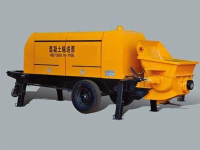 electric trailer concrete pump01
