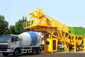 AJY35 Mobile Concrete Batching Plant Exported To Myanmar