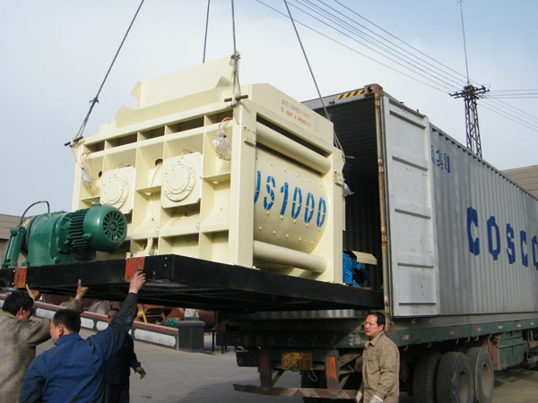 JS1000-twin-shaft-mixer-delivery
