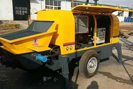 Our Diesel Trailer Concrete Pump HBTS60-SR Was Shipped To Philippines