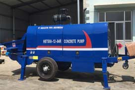 Aimix Diesel Trailer Pump Was Sent to Indonesia