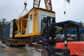Our AJY25 Mobile Concrete Batching Plant Was Sent to Jakarta, Indonesia