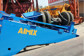 Aimix AJY35 Mobile Concrete Batching Plant Was Sent to Philippines