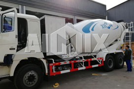 Aimix 4 sets of cement mixer truck was sent to Uzbekistan in January 2019.