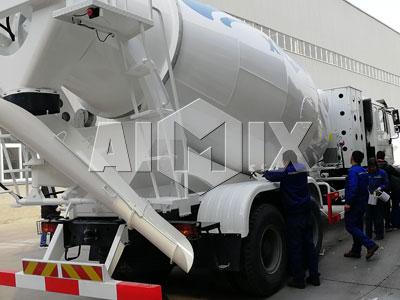 4 Sets of Aimix Concrete Mixer Truck Was Sent To Uzi