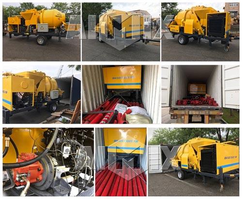 Aimix Diesel Concrete Mixer Pump Sent TO Manila Philippines