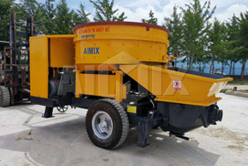 Aimix Planetary Concrete Mixer Pump Was Sold to Papua Indonesia