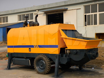 80m³/h Diesel Stationary Concrete Trailer Pump