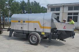 Aimix Concrete Trailer Pump Was Sent To Peshawar Pakistan