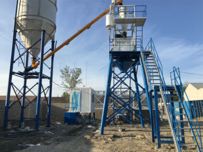 Aimix AJ35 Concrete Batching Plant Was Installed in Uzbekistan