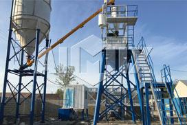 Aimix AJ35 Concrete Batching Plant Was Installed in Uzbekistan