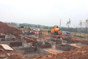 Aimix concrete pump on work-site