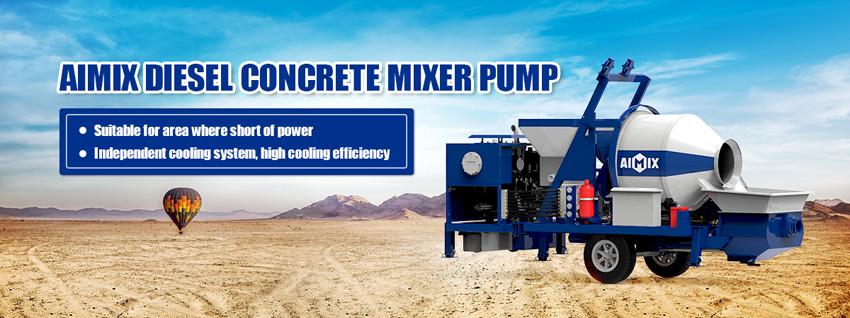 diesel concrete mixer pump