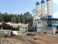 hopper feeding concrete batching plant
