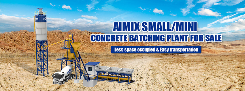 small concrete batching plant banner