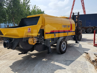 80 m3/h concrete trailer pump in Indonesia