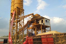 Aimix AJ90 Concrete Batching Plant in Indonesia