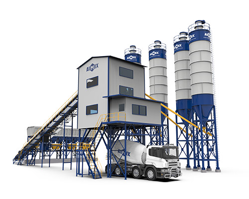 Stationary Concrete Batching Plant (belt type)
