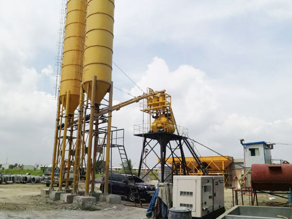 Aimix AJ35 Concrete batching plant in Philippines