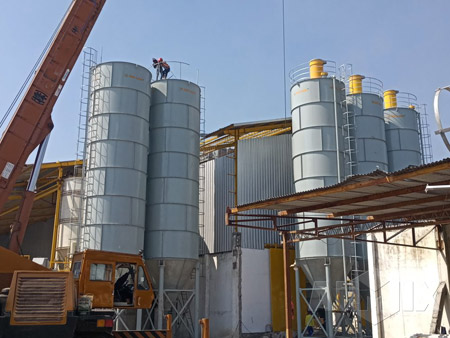 Aimix 30 t/h dry mortar mixing plant in Indonesia