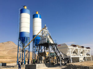 Aimix stationary concrete batching plant