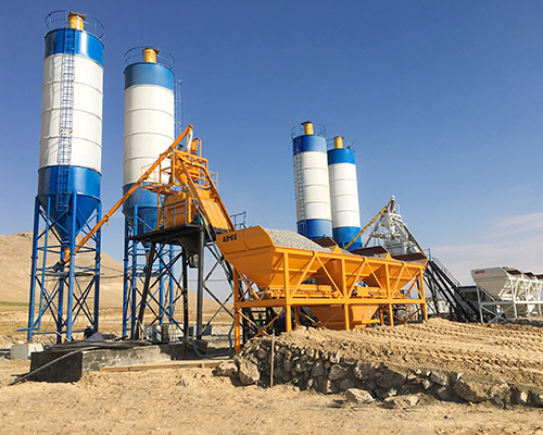 Stationary-Concrete-Batching-Plant-hopper-type