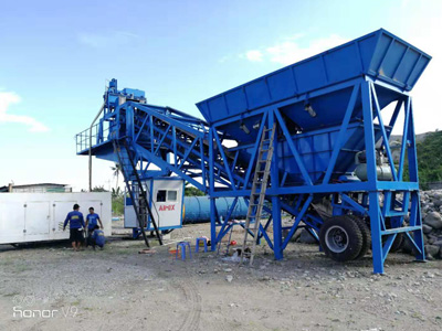 Aimix AJY35 Mobile Concrete Batching Plant in Philippines