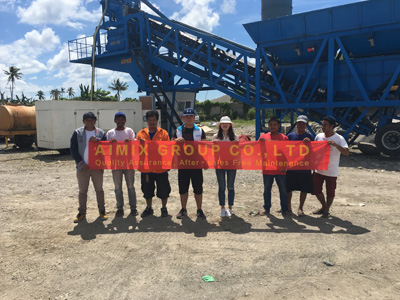 Philippines Clients Feedback of Aimix AJY35 Mobile Concrete Batching Plant