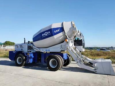 5.5 cbm self loading concrete mixer