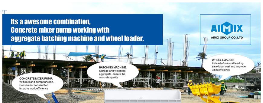 mixer pump and batching machine