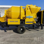 ABJZ40C Diesel Concrete Mixer Pump to Kalimantan Kendari Indonesia