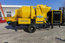 ABJZ40C Diesel Concrete Mixer Pump to Kalimantan Kendari Indonesia