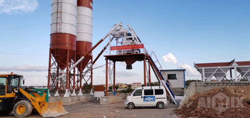 AJ50 Concrete Batching Plant Installed in Pakistan