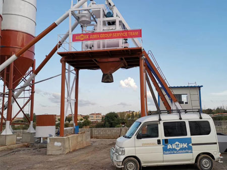 Aimix AJ50 Concrete Batching Plant Installed in Pakistan