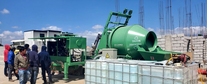 Aimix ABJZ40C Concrete Mixer Pump Was Well Operated In The Philippines
