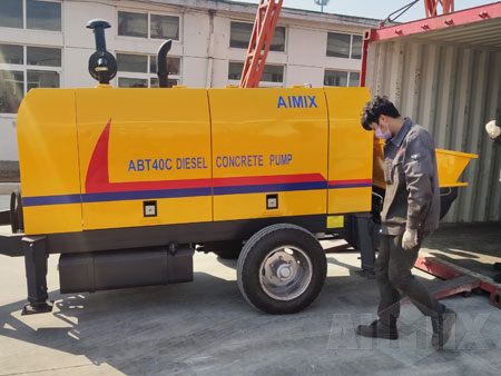 Aimix Concrete Trailer Pump & Concrete Mixer Pump in Indonesia