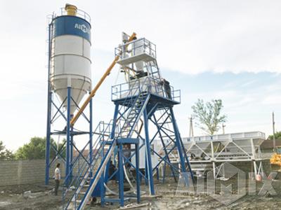 Foundation-free concrete batching plant