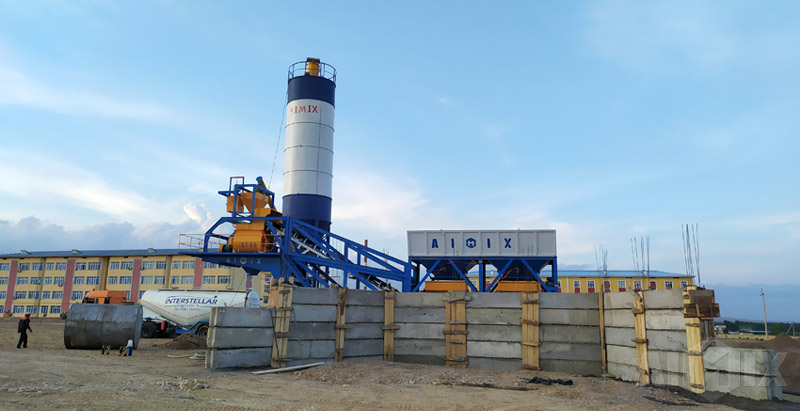Aimix Concrete Batching Plant For Hospital Project in Uzi