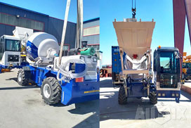 Aimix Self Loading Concrete Mixer & Concrete Trailer Pump in Manila Philippines