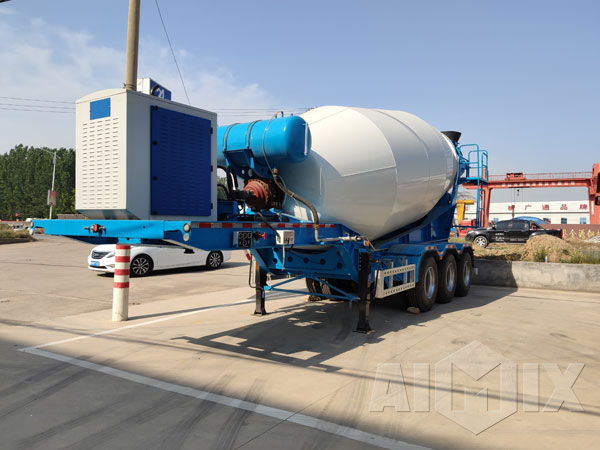 tractor trailer concrete mixer