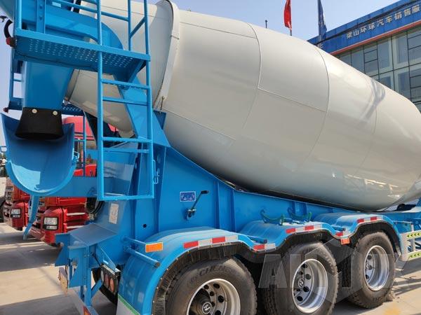 tractor trailer concrete mixer