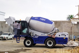 Aimix Concrete Trailer Pump Self Loading Concrete Mixer