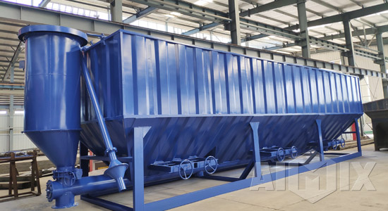 horizontal cement silos