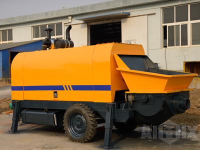 ABT80C diesel concrete trailer pump