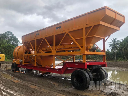Aimix AJY 35 Mobile Concrete Batching Plant Finished Installation in Indonesia