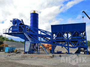 AJY60 mobile concrete batching plant