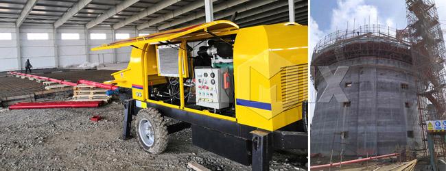 AIMIX ABT40C Concrete Trailer Pump for Building Costruction