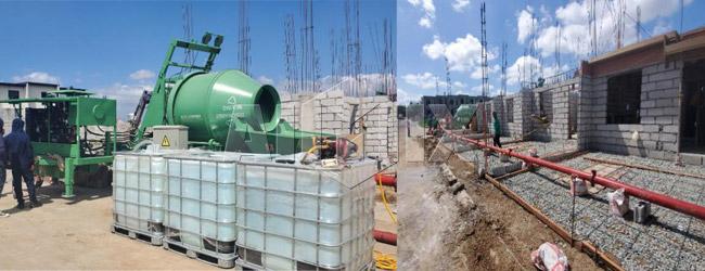 ABJZ40C Concrete Mixer Pump for Warehouse, Parking area