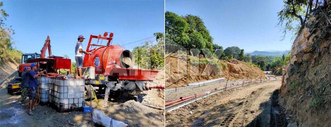 ABJZ40C Concrete Mixer Pump for Road Construction